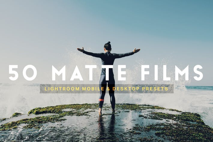 Thumbnail for 50 Matte Film Lightroom Presets LUTs