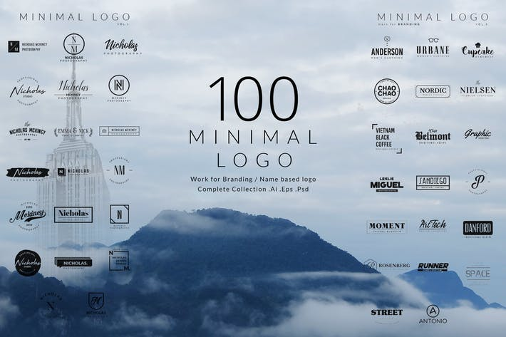 Thumbnail for 100 Minimal logos