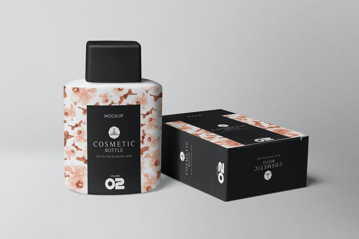 Cover Image For Cosmetic Bottle Mockups