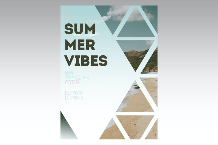 Thumbnail for Summer Vibes Flyer Poster