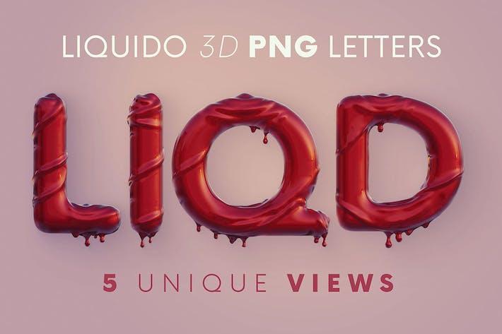 Liquido - 3D Lettering