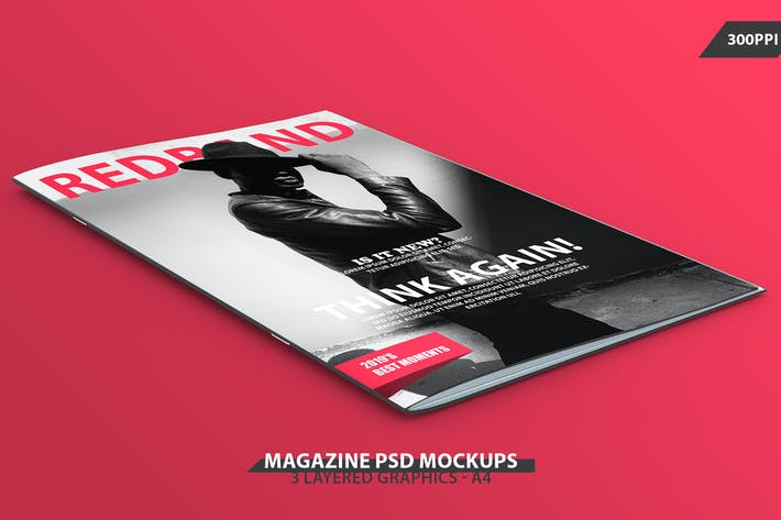 Magazine Front Page Mock-up PSDs