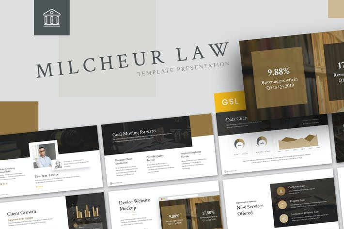 Thumbnail for Milcheur - Law Google Slides Template