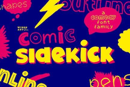 Comic Sidekick: A Screwball Comedy Font Family!
