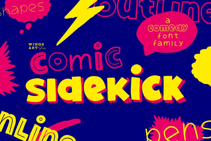 Thumbnail for Comic Sidekick: A Screwball Comedy Font Family!