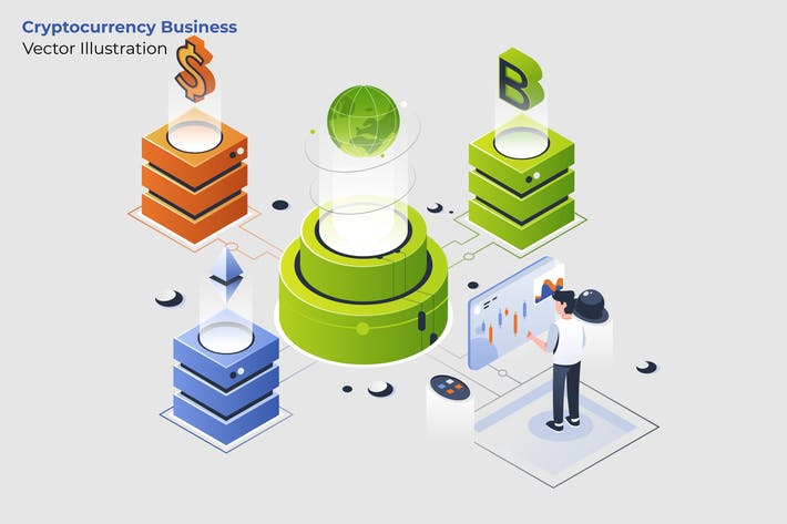 Thumbnail for Cryptocurrency Business - Vector Illustration