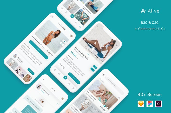 Thumbnail for Alive - B2C and C2C eCommerce App Ui Kit