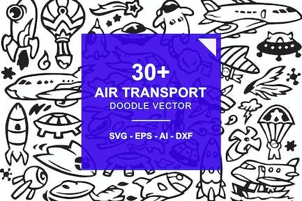 Garabatos de transporte aéreo