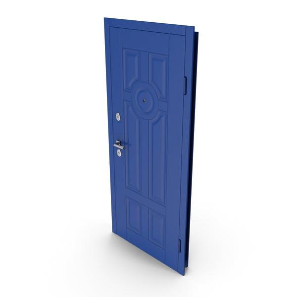 Entrance Door Blue