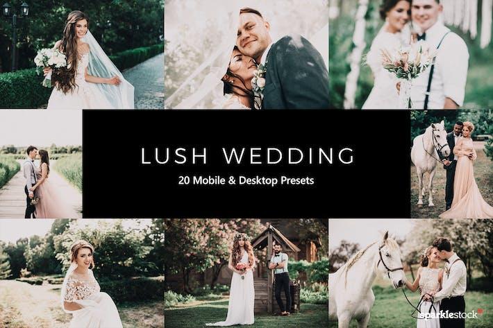 Thumbnail for 20 Lush Wedding Lightroom Presets & LUTs