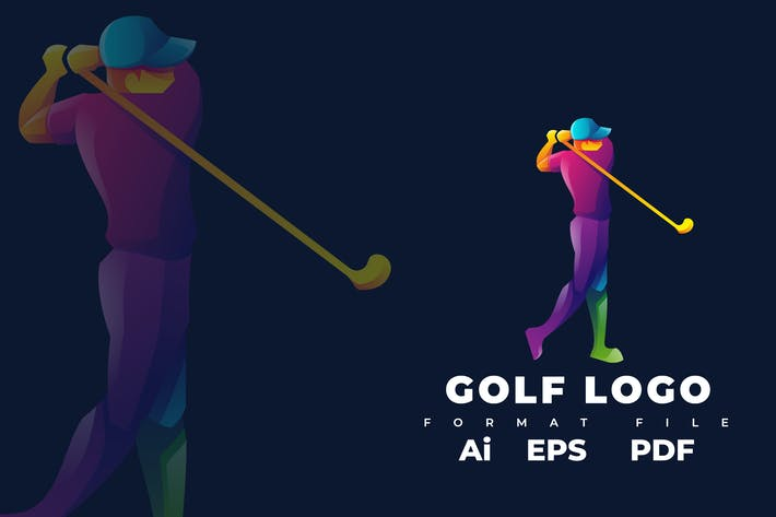 Thumbnail for Plantilla de Logo de Golf