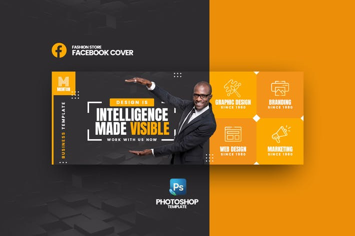 Thumbnail for Monton - Business Facebook Cover Template