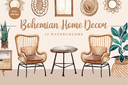 Bohemia Home Decor Recurso Acuarelas