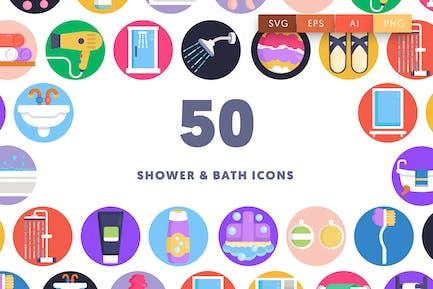 50 Shower & Bath Icons