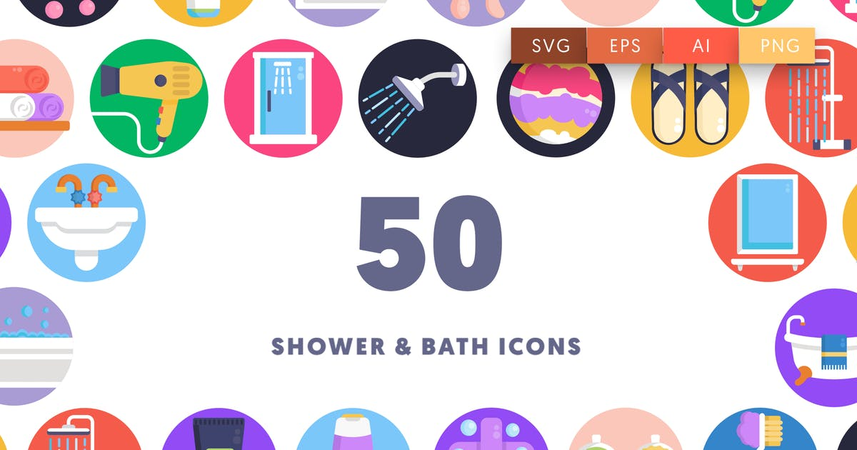 Download 50 Shower & Bath Icons by thedighital