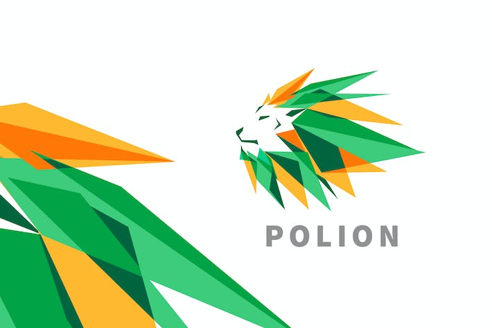 Thumbnail for Polion - Low Poly Lion Logo