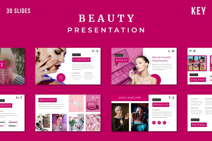 Thumbnail for Beauty - Keynote Template