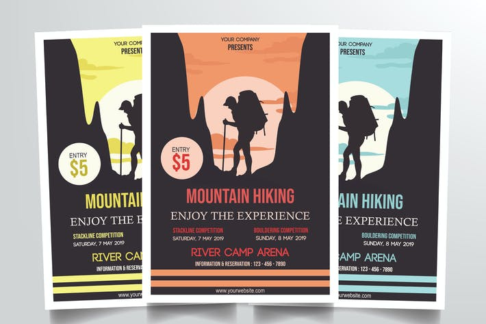 Thumbnail for Mountain Hiking Flyer Template