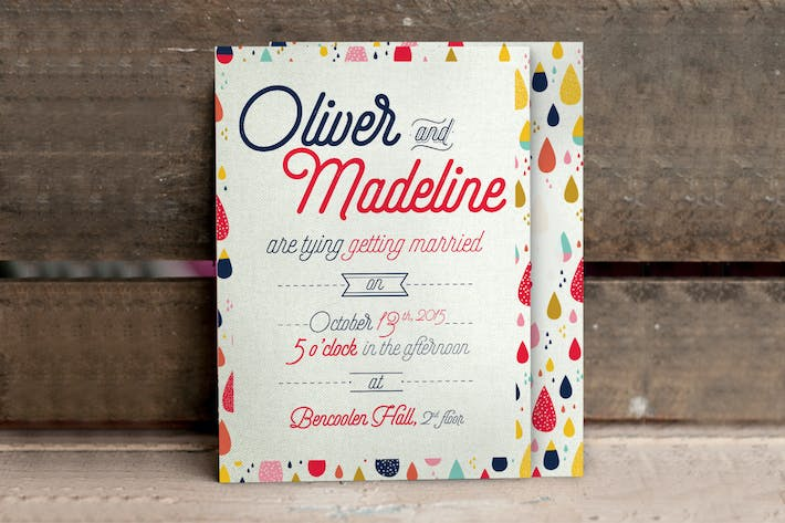 Cover Image For Fun Pattern Wedding Invitation