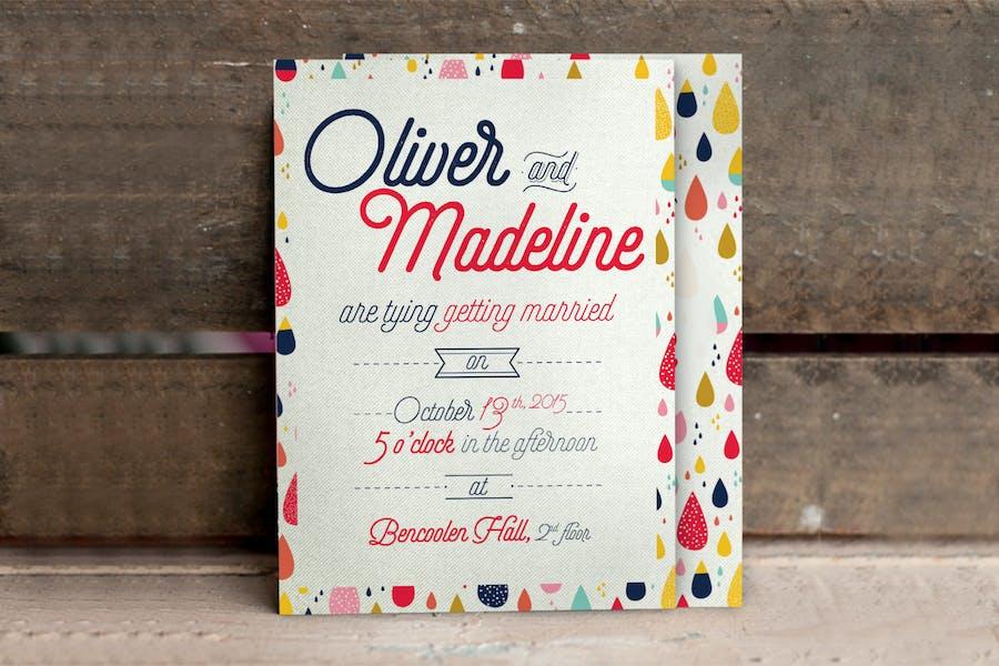 Fun Pattern Wedding Invitation