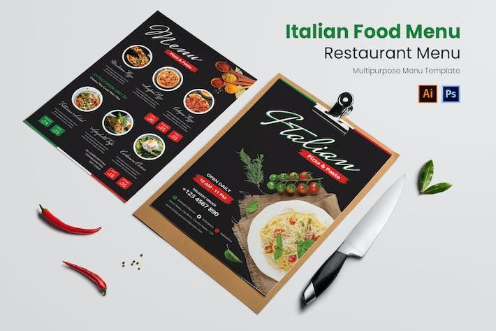 Thumbnail for Italian Food Restaurant Menu