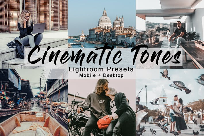 Thumbnail for Cinematic Tones -  Lightroom Presets Pack