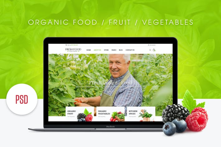 Thumbnail for FreshFood PSD Template