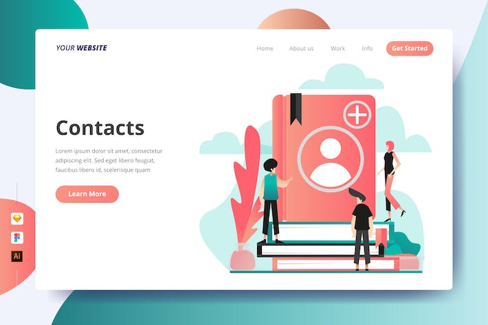 Thumbnail for Contacts - Landing Page
