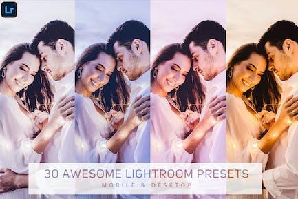 30 Lightroom Presets   Mobile & Desktop Presets