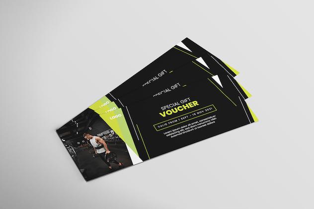 Fitness Gym - Voucher Design