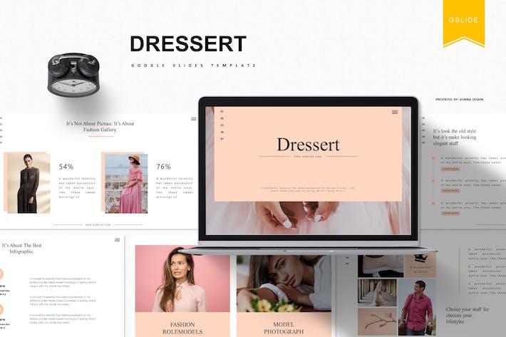 Cover Image For Dressert    Google Slides Template