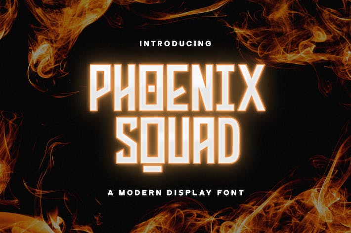 Thumbnail for Phoenix Squad - Police d'affichage moderne