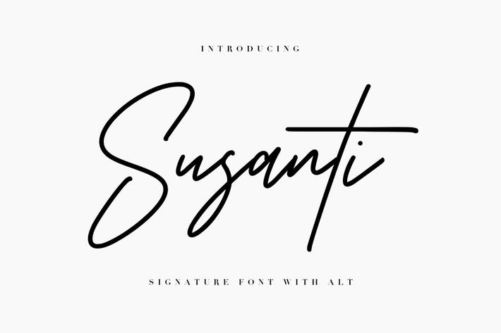 Thumbnail for Susanti Signature Font