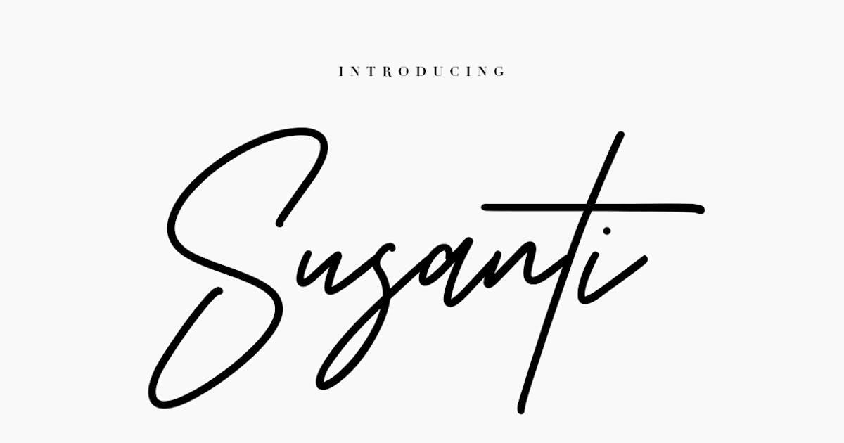 Susanti Signature Font by maulanacreative