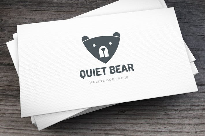 Thumbnail for Quiet Bear Logo Template