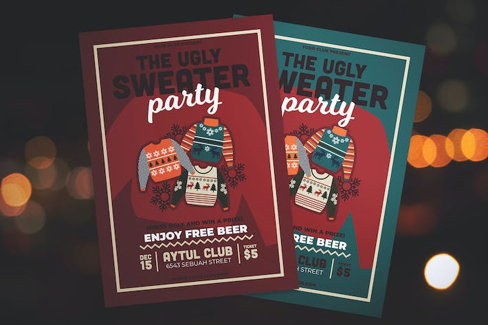 Thumbnail for Ugly Sweater Party Flyer