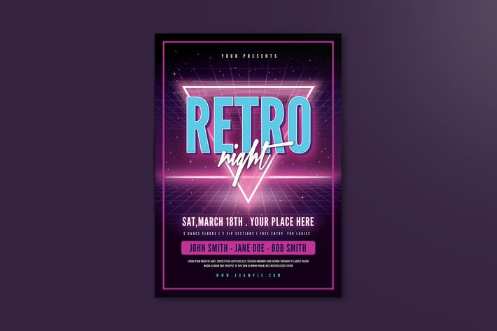 Thumbnail for 80's Retro Flyer