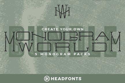 Monogram World Bundle l Monogram Font