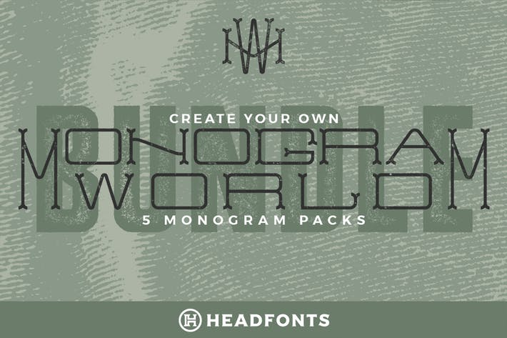 Thumbnail for Monogram World Bundle l Monogram Font