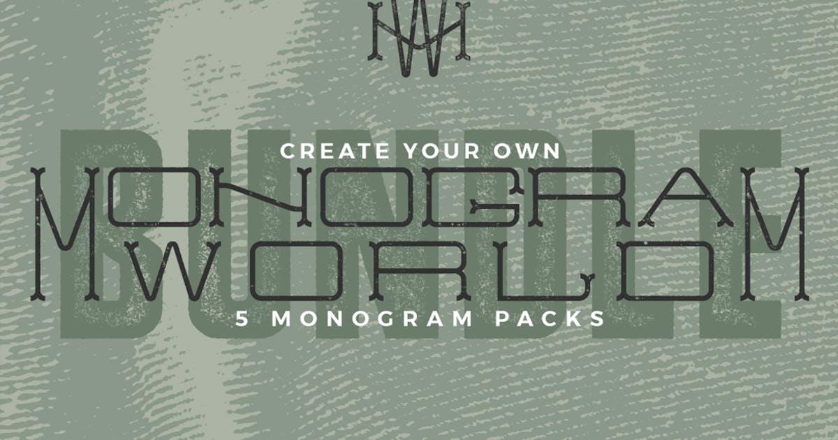 Download Monogram World Bundle l Monogram Font by Mihis_Design