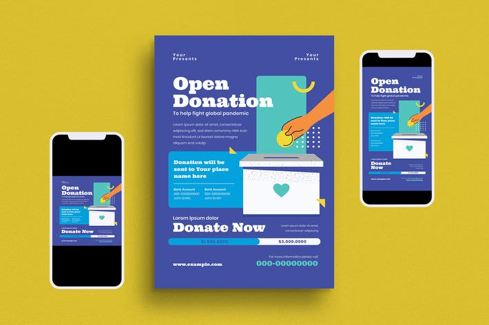 Open Donation Flyer Set