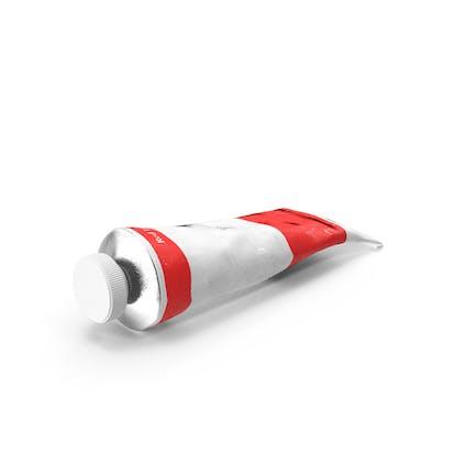 Tubo de pintura acrílica rojo claro
