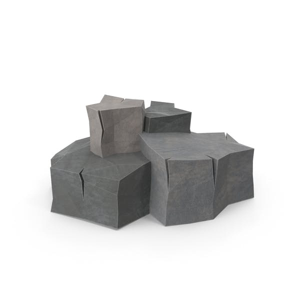 Low Poly Boulders