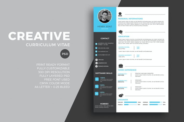 Cover Image For Modern resume and CV tempalte