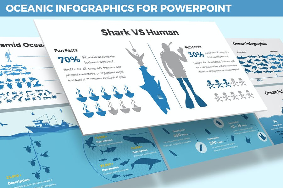 Oceanic Infographics for Powerpoint Template