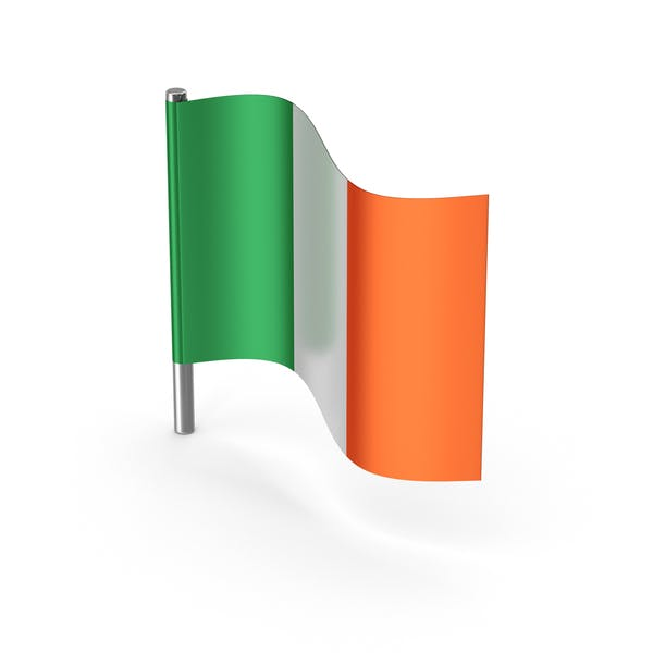 Ireland Cartoon Flag