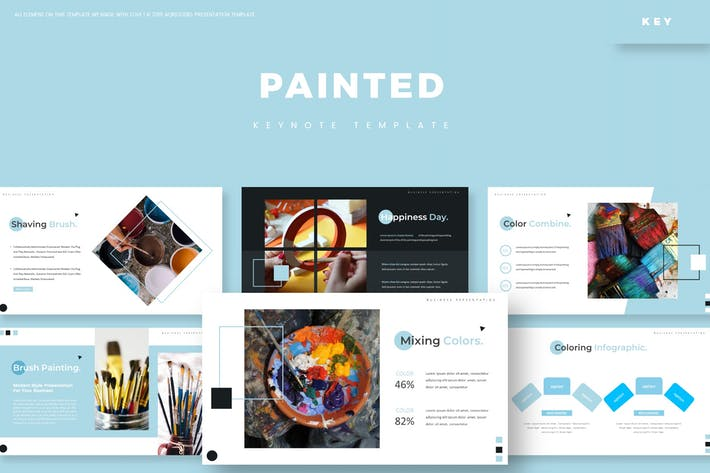 Thumbnail for Painted - Keynote Template