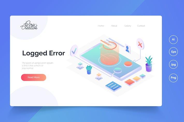 Logged Error- Isometric Landing Page