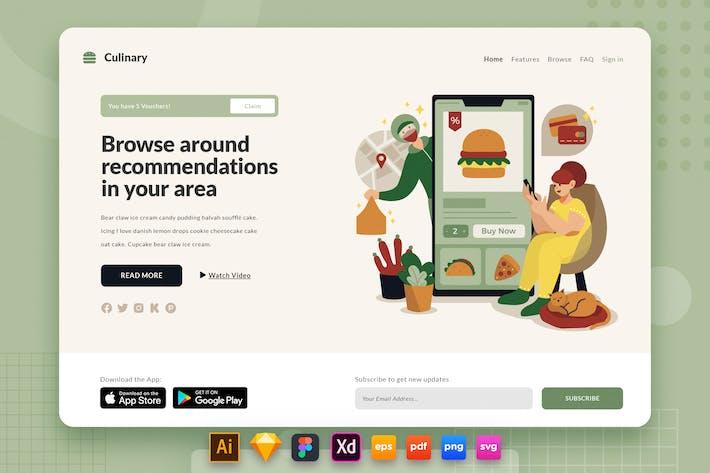 Landing Page V.24 Culinary - Appli de livraison de nourriture