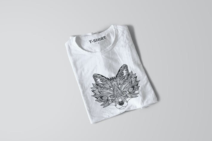 Thumbnail for Fox Mandala T-shirt Design Vector Illustration